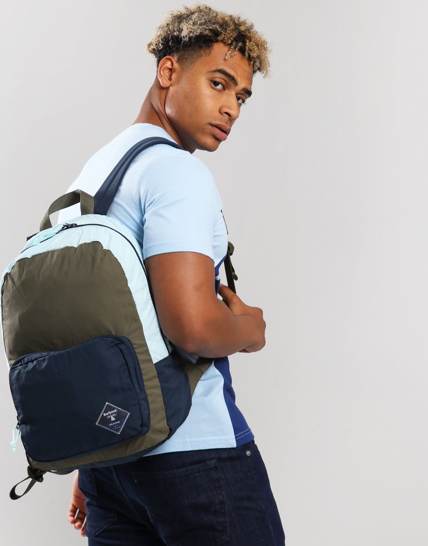 Barbour Beacon Gable Backpack Olive/Navy