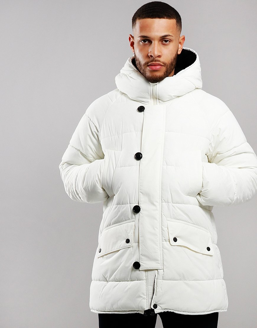 Barbour Alpine Quilted Jacket Egret