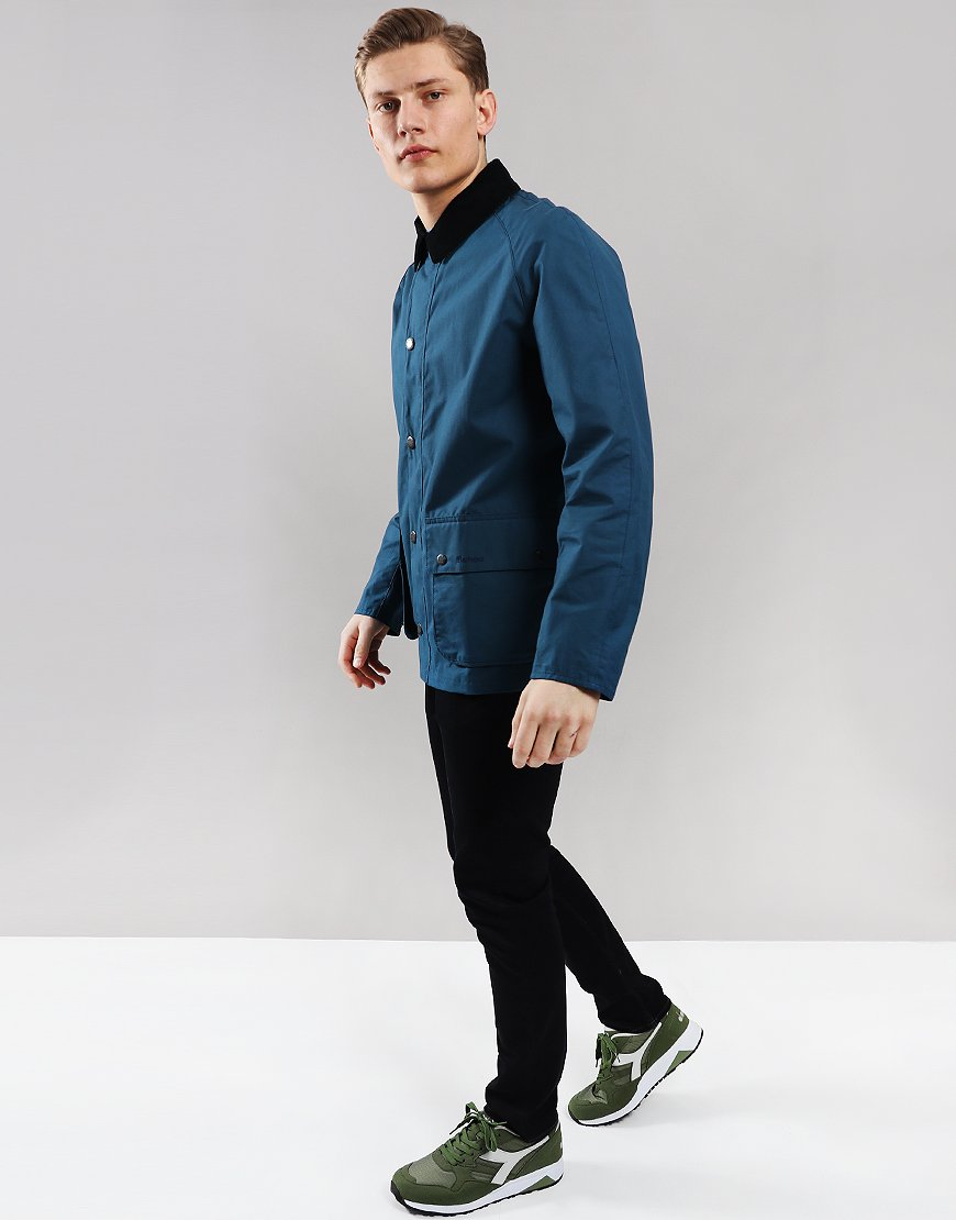 Barbour Awe Casual Jacket Peacock Blue