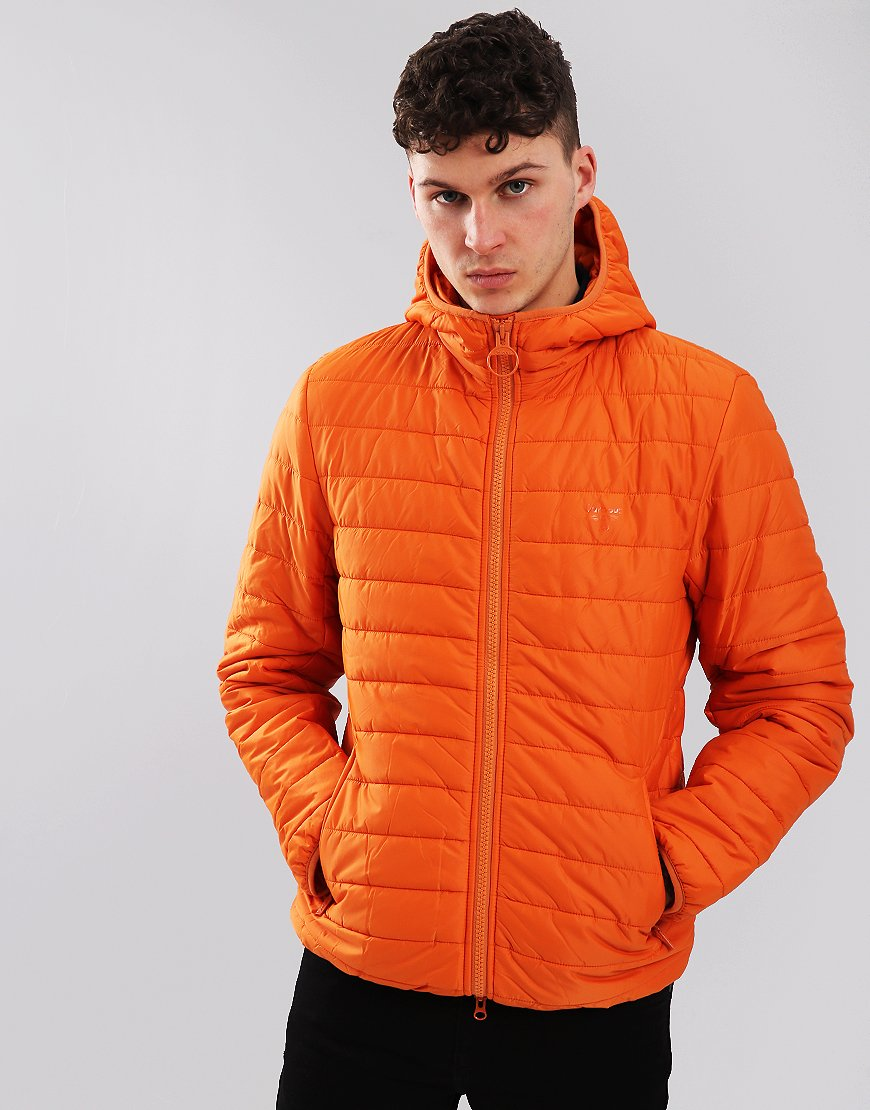 Barbour Beacon Birkhouse Quilted Jacket Burnt Orange