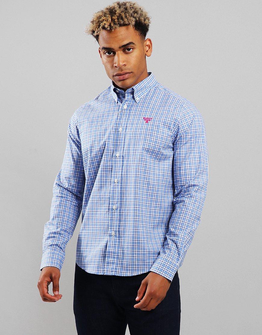 Barbour Beacon Cartmel Long Sleeve Shirt Light Blue