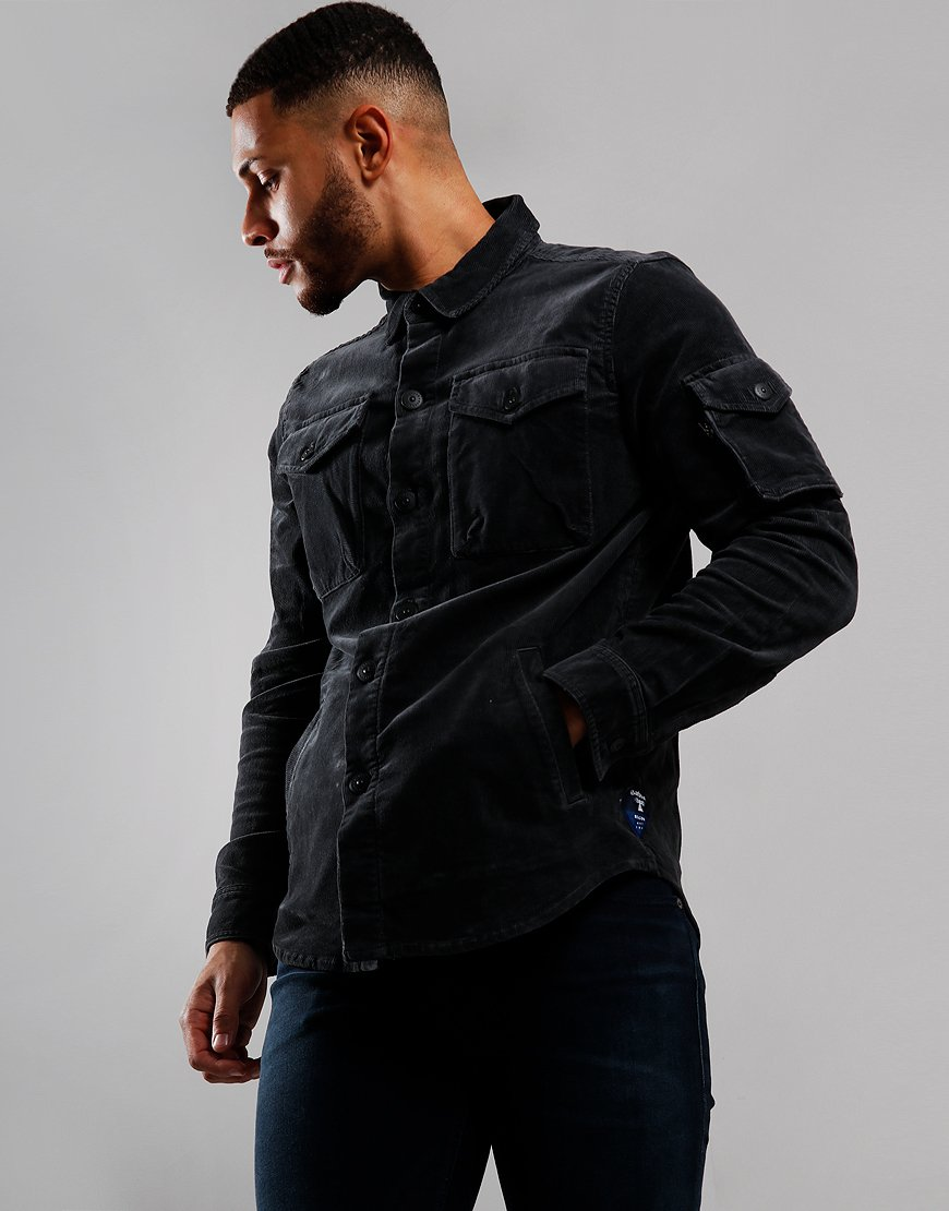 Barbour Beacon Askern Corduroy Overshirt Navy