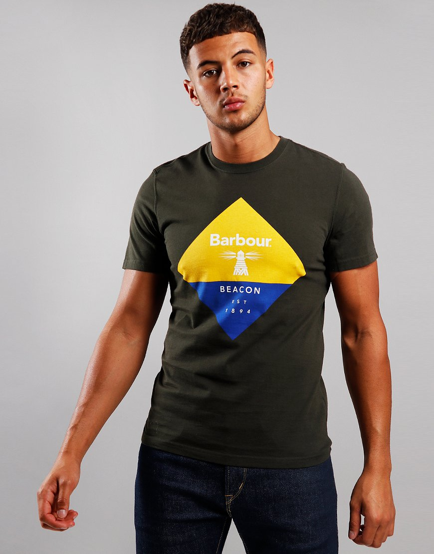 Barbour Beacon Diamond T-Shirt Sage