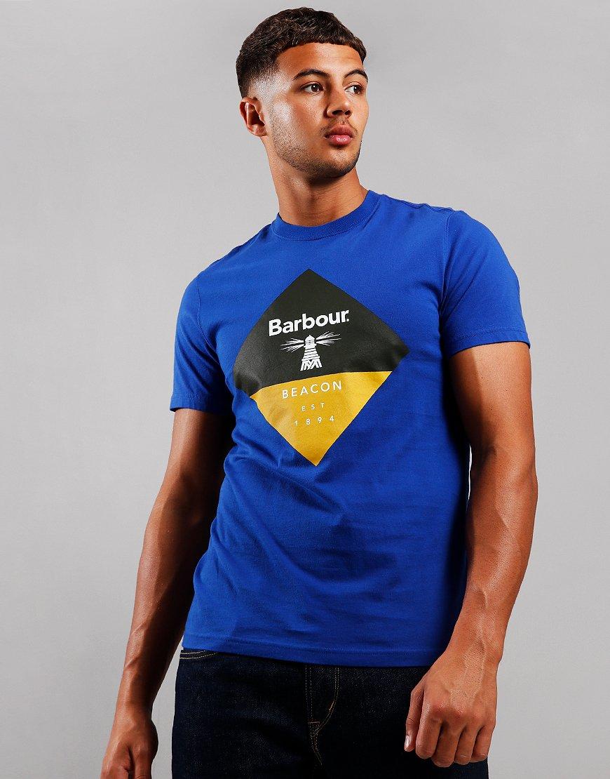 Barbour Beacon Diamond T-Shirt Sea Blue