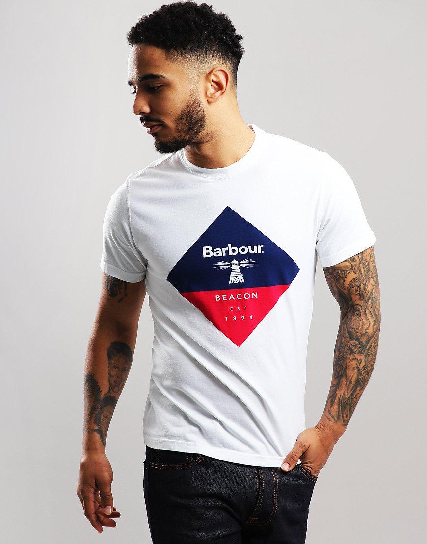 Barbour Beacon Diamond T-Shirt White
