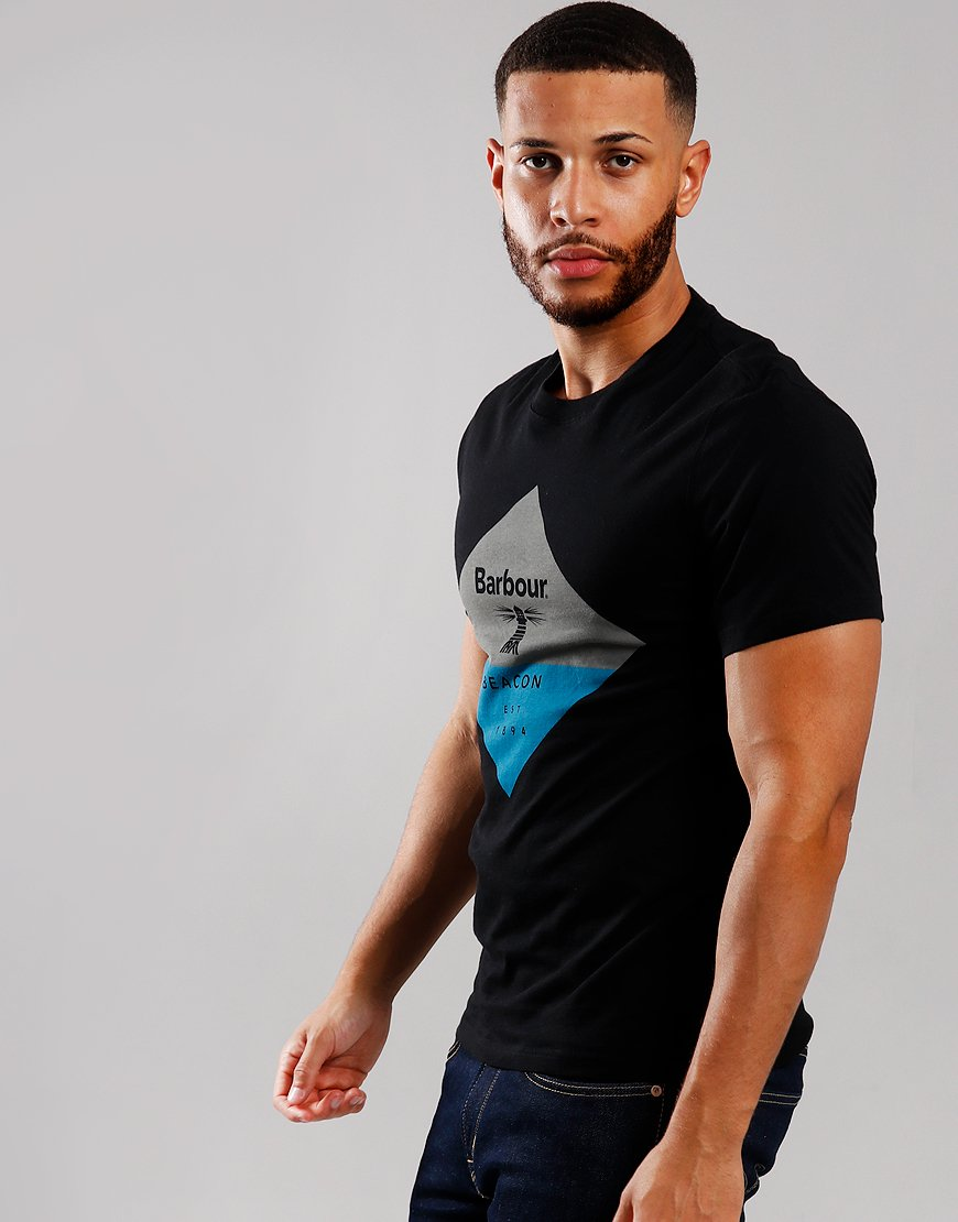 Barbour Beacon Diamond T-Shirt Black