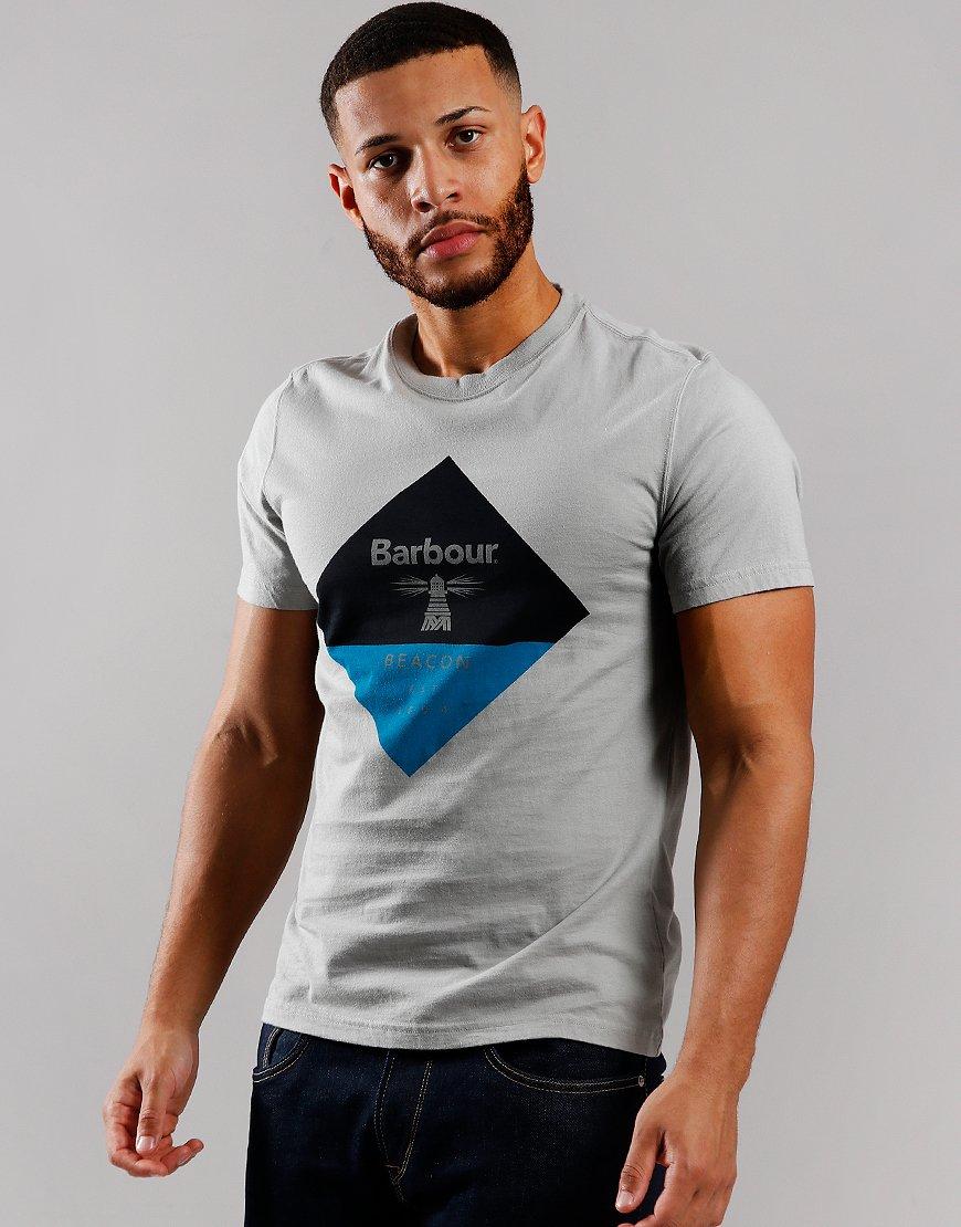 Barbour Beacon Diamond T-Shirt Grey