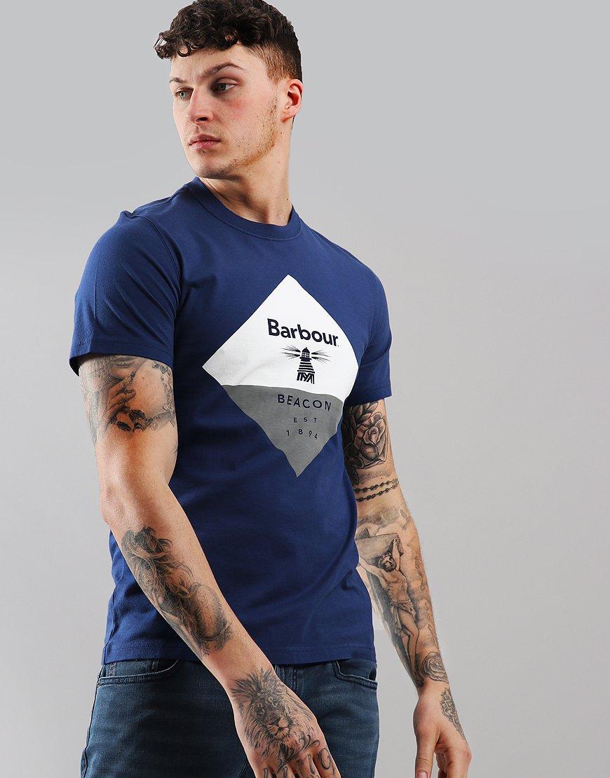 Barbour Beacon Diamond T-Shirt Regal Blue