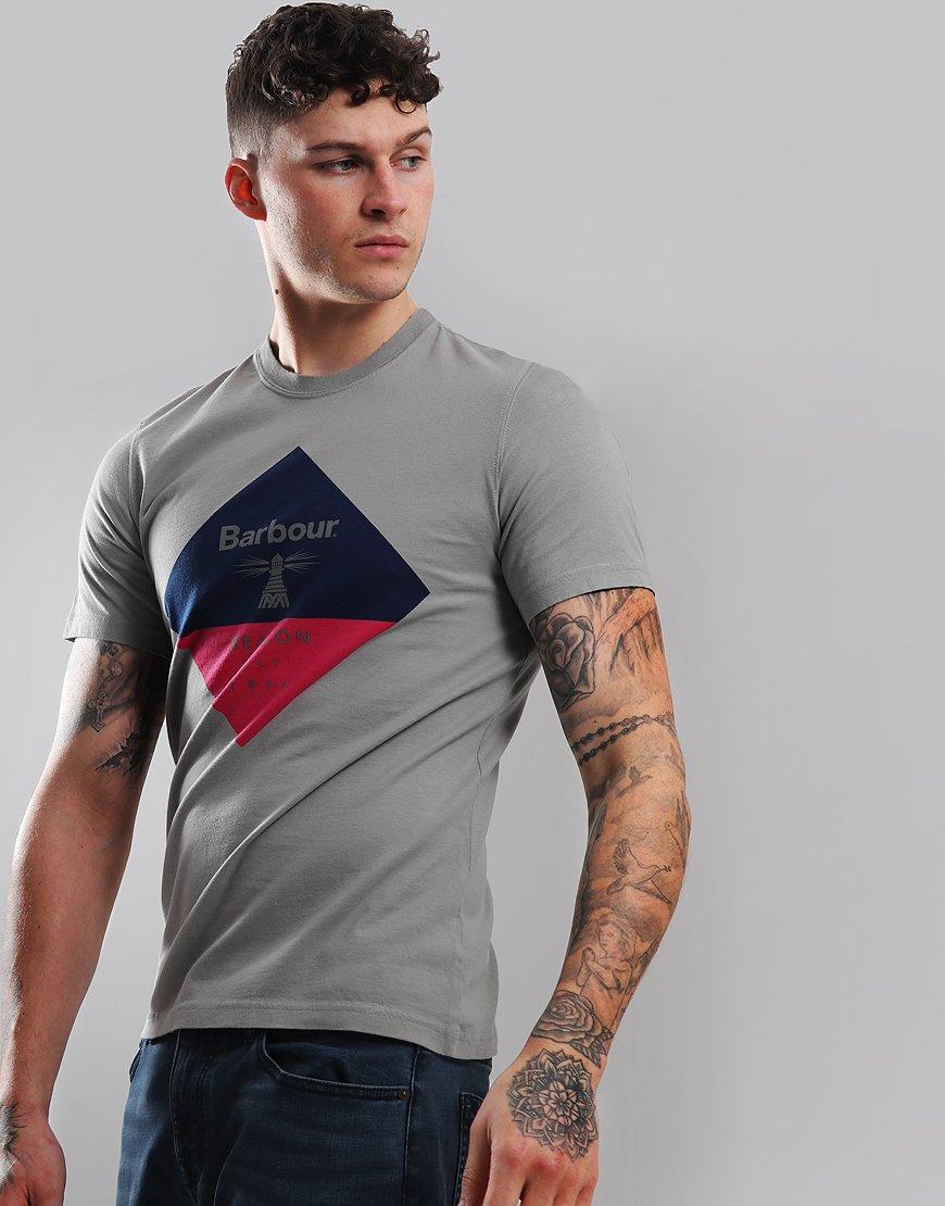 Barbour Beacon Diamond T-Shirt Smoke
