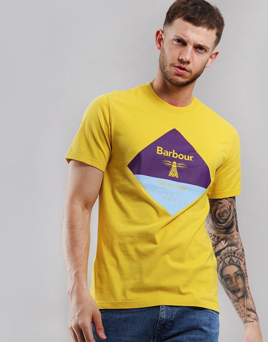 Barbour Beacon Diamond T-Shirt Sulphur