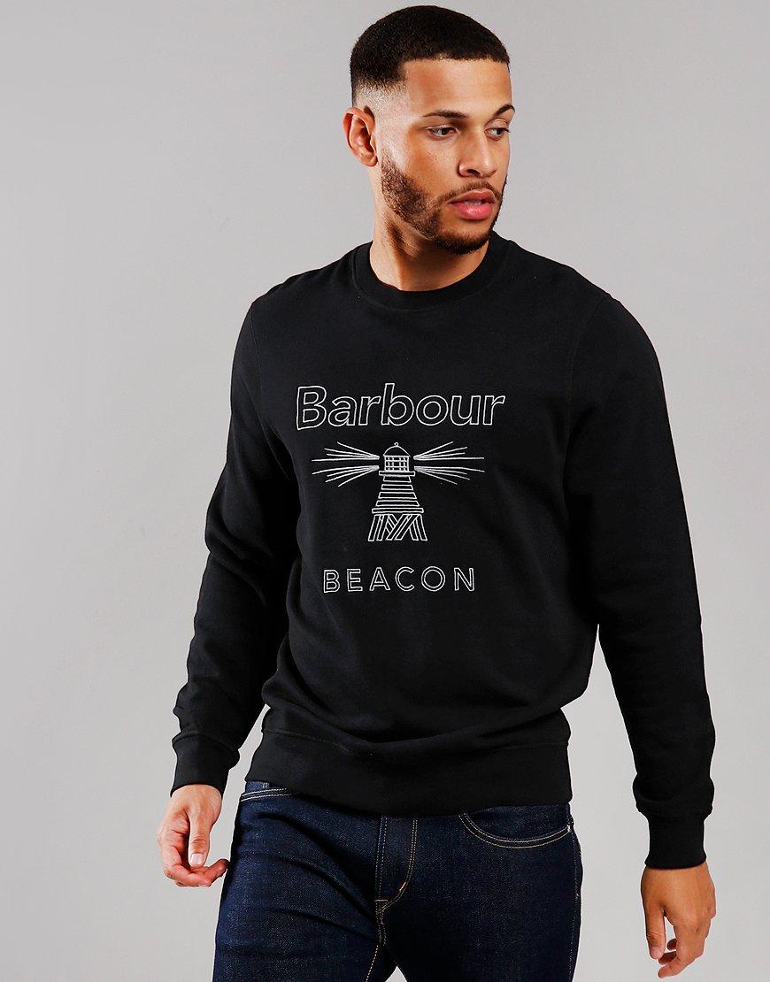 Barbour Beacon Rowan Crew Neck Sweat Black