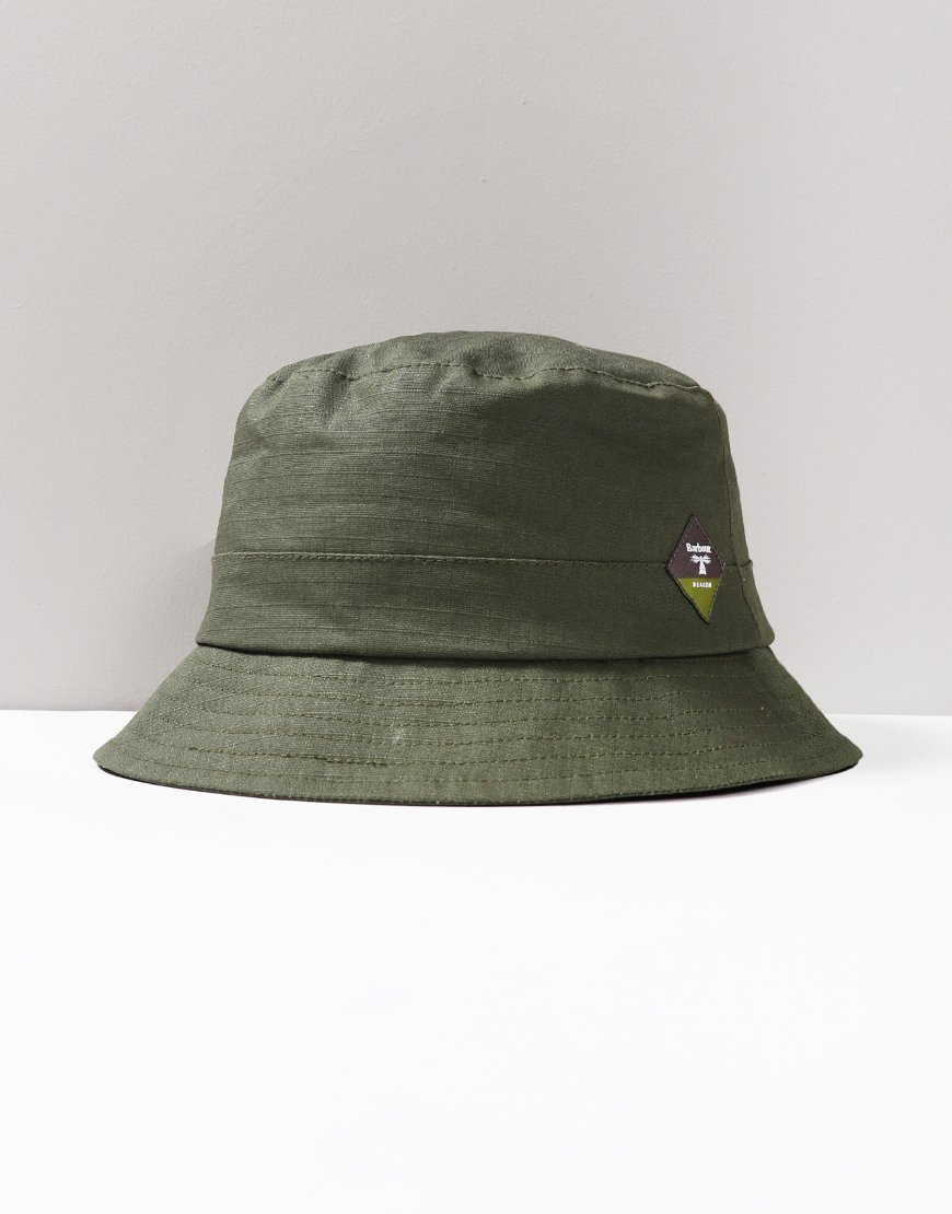 4974026b Barbour Beacon Gully Bucket Hat Green