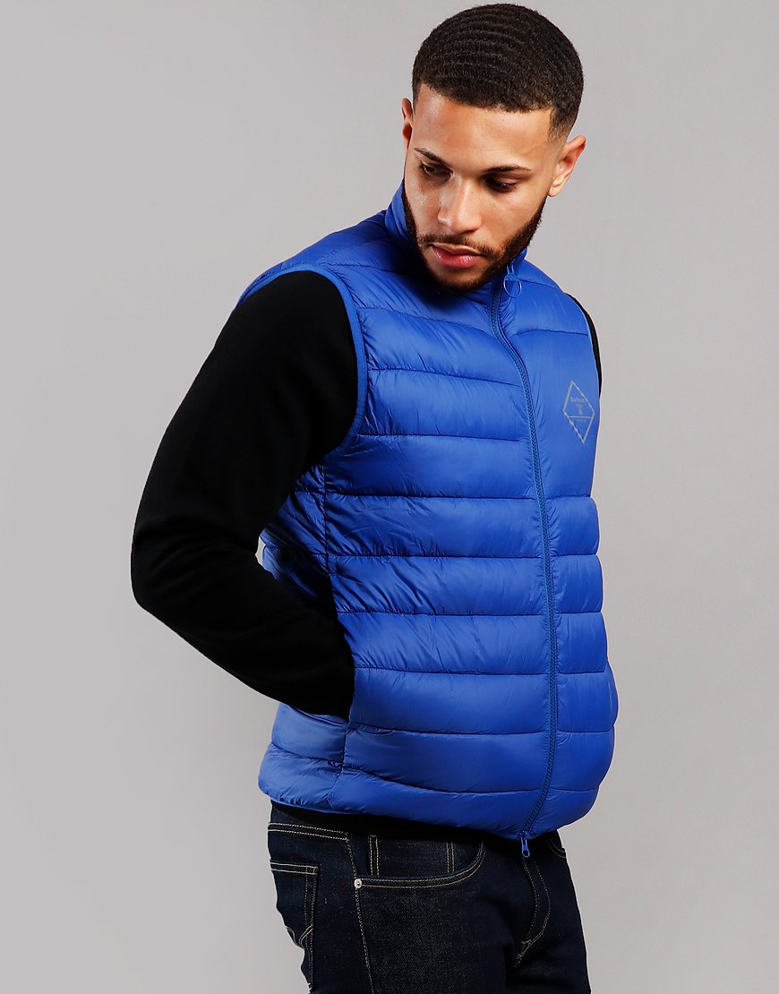 Barber Beacon Harter Quilted Gilet Charge Blue