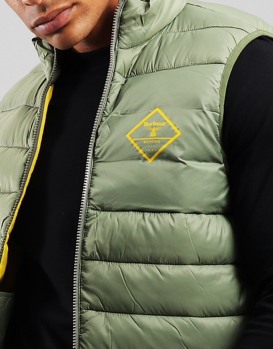 Barbour Beacon Harter Quilted Gilet Light Moss