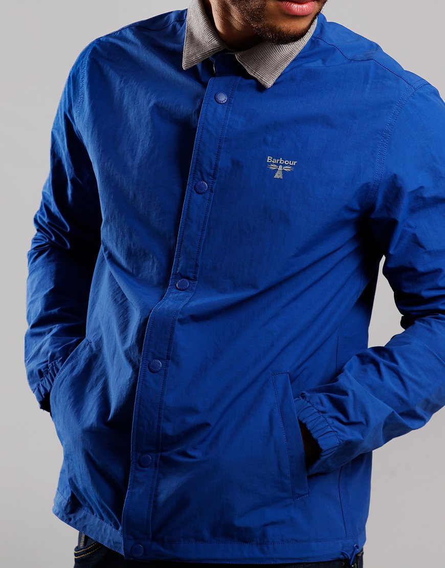Barbour Beacon Healey Overshirt Bright Blue
