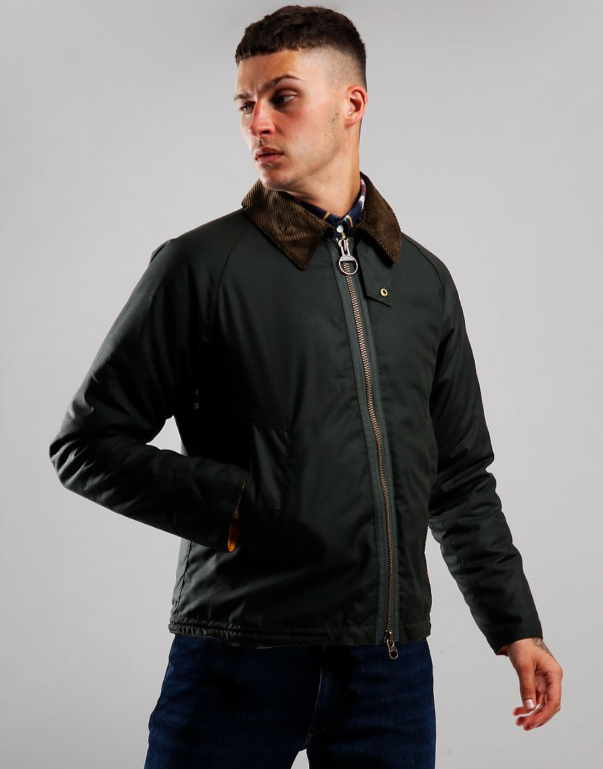 Barbour Beacon Winter Munro Wax Jacket Sage