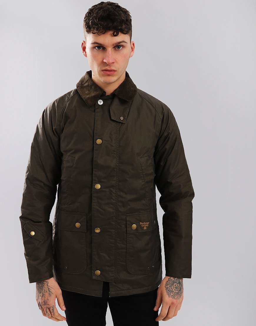 Barbour Beacon Lingmell Waxed Cotton Jacket Clay