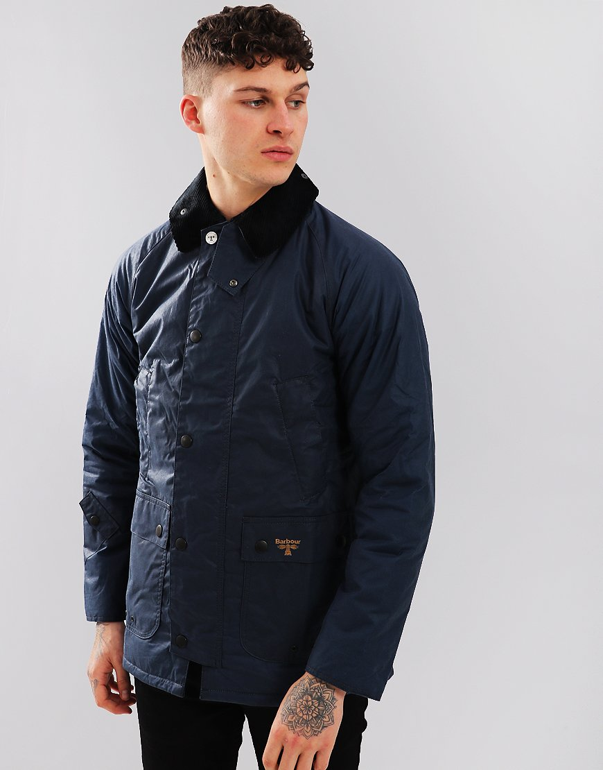 Barbour Beacon Lingmell Waxed Cotton Jacket Dark Denim