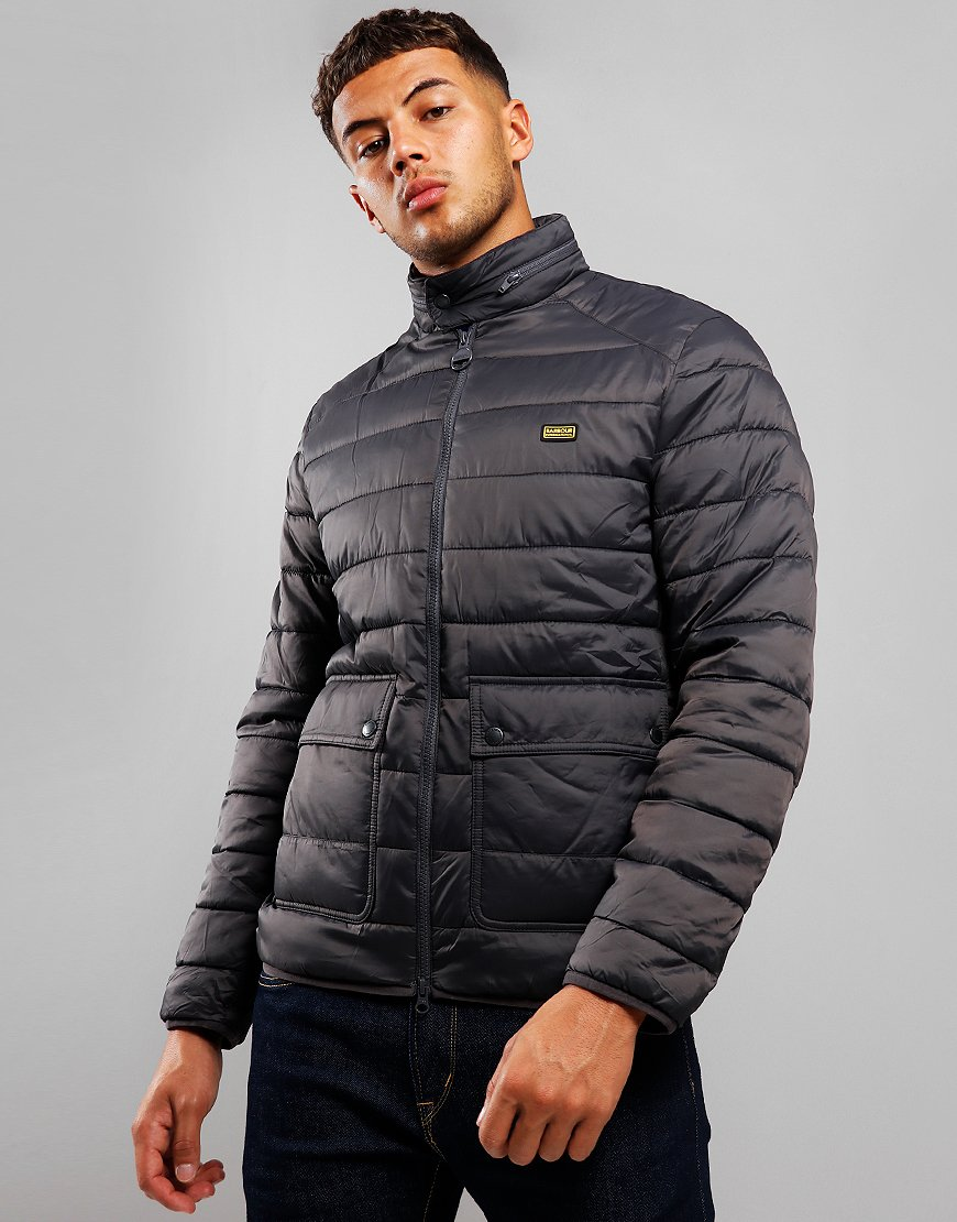 Barbour International Ludgate Quilted Jacket Charcoal