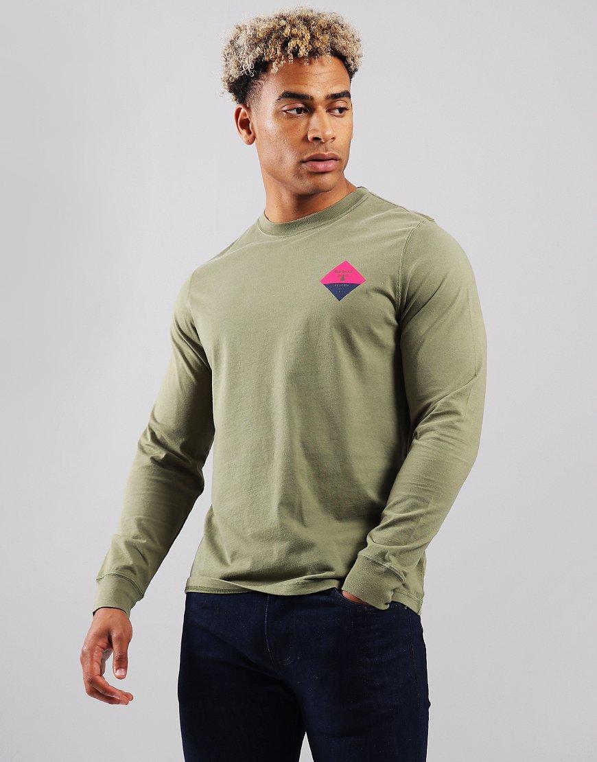 Barbour Beacon Meldon Long Sleeve T-Shirt Khaki