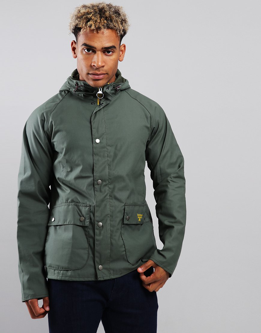 Barbour Beacon Pass Wax Jacket Moss