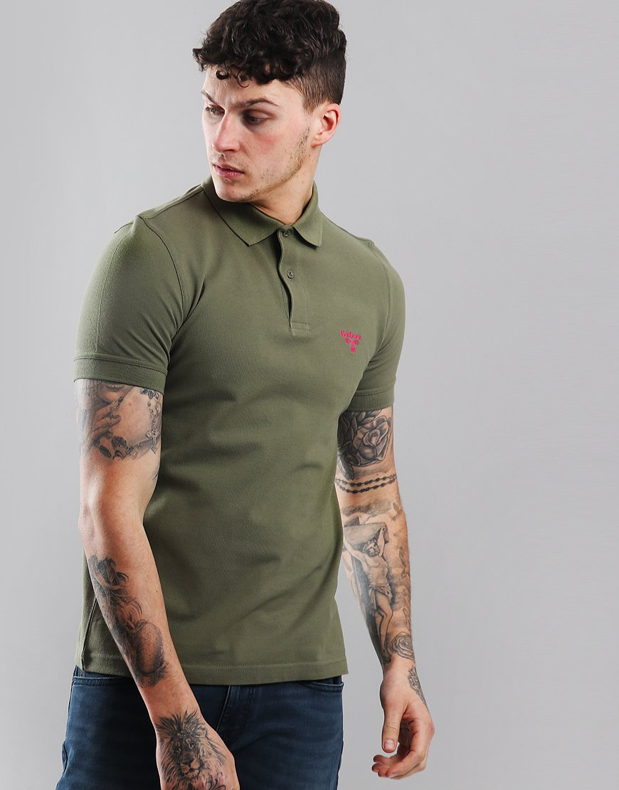 Barbour Beacon Polo Shirt Light Moss