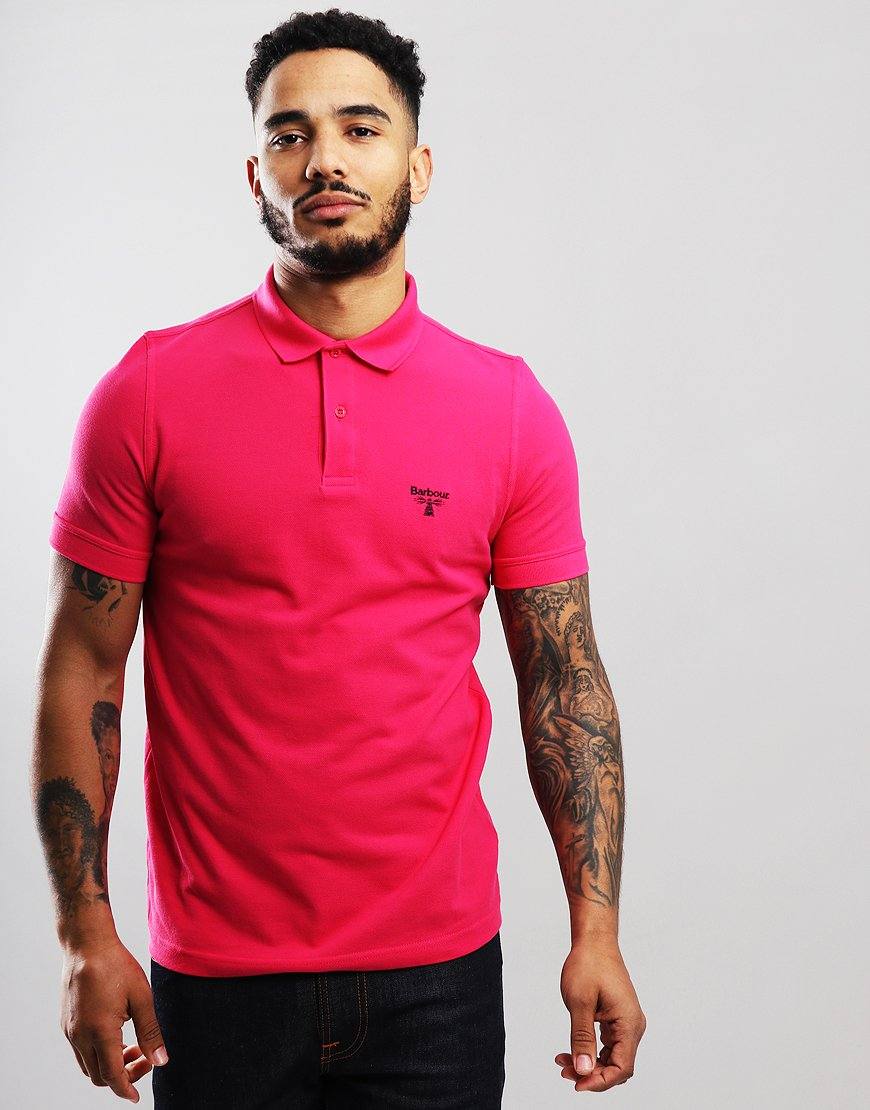 Barbour Beacon Polo Shirt Fuschia