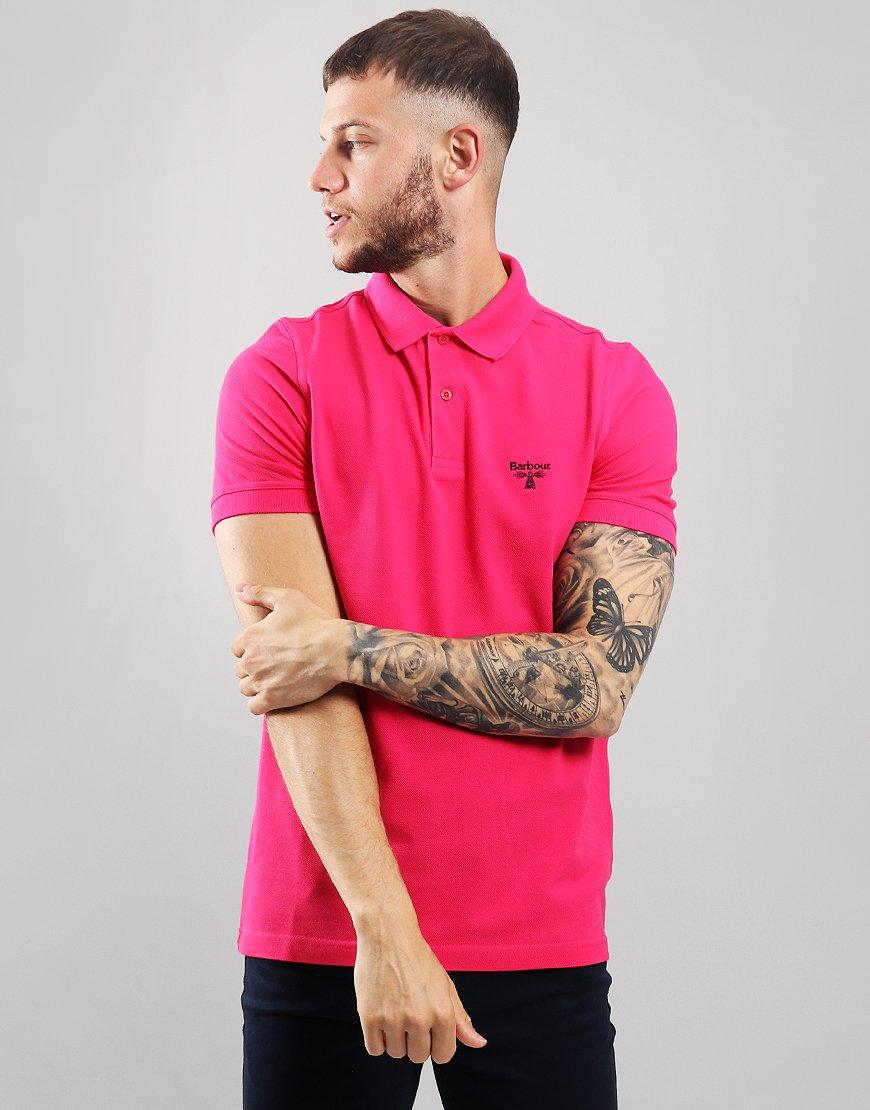 Barbour Beacon Polo Shirt Fuschia