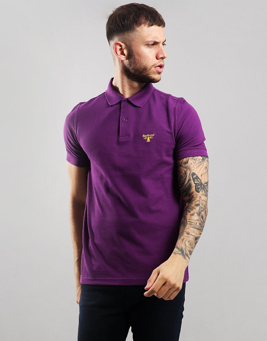 Barbour Beacon Polo Shirt Light Plum