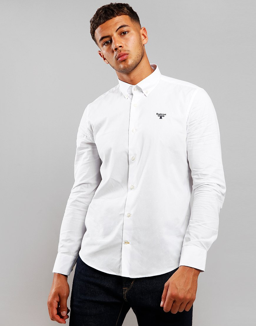 Barbour Beacon Seathwaite Long Sleeve Shirt White