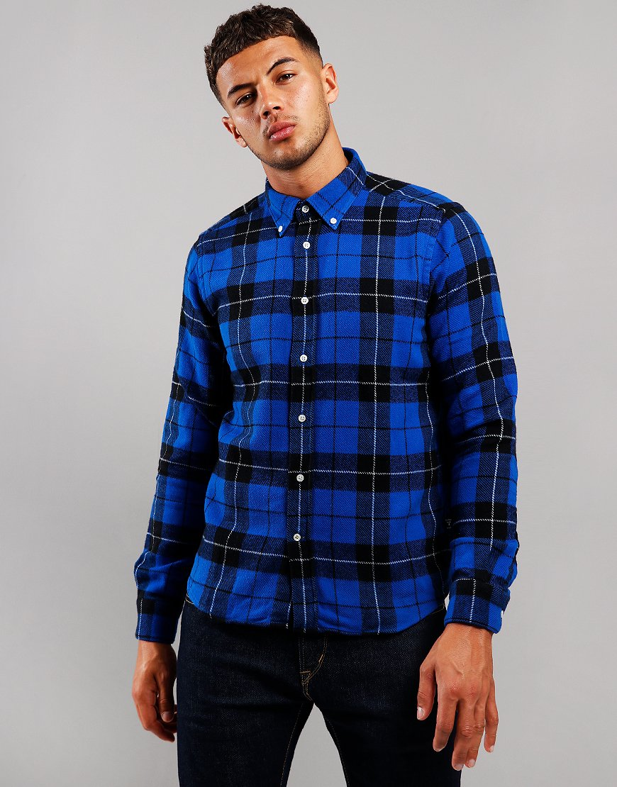 Barbour Beacon Span Long Sleeve Shirt Sea Blue