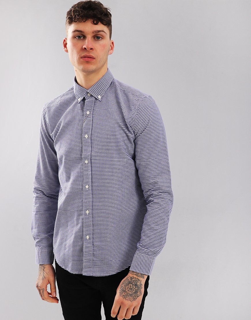 Barbour Beacon Standle Long Sleeve Shirt Navy