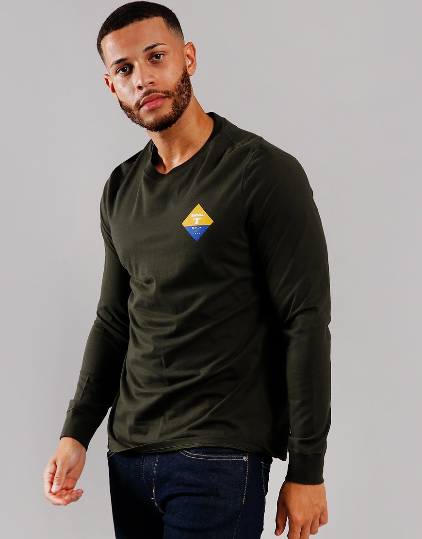 Barbour Beacon Switch Long Sleeve T-Shirt Sage
