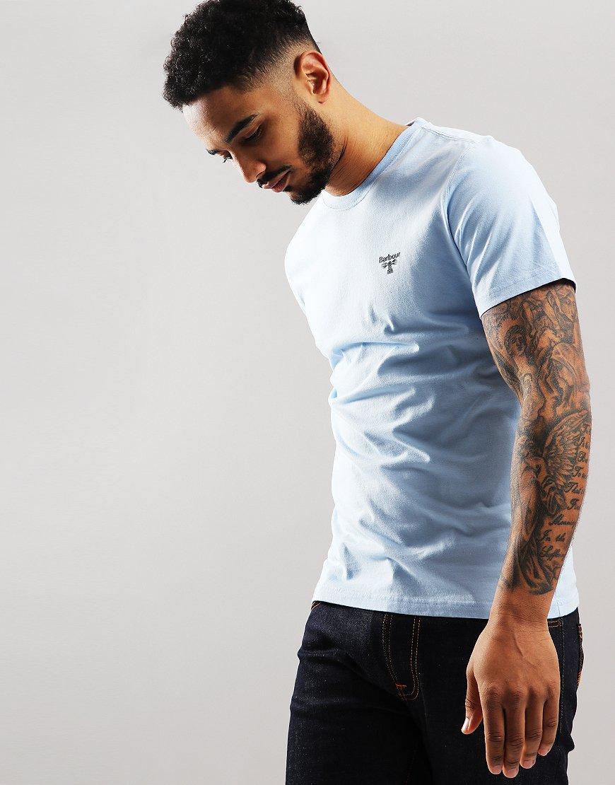 Barbour Beacon Logo T-Shirt Light Blue