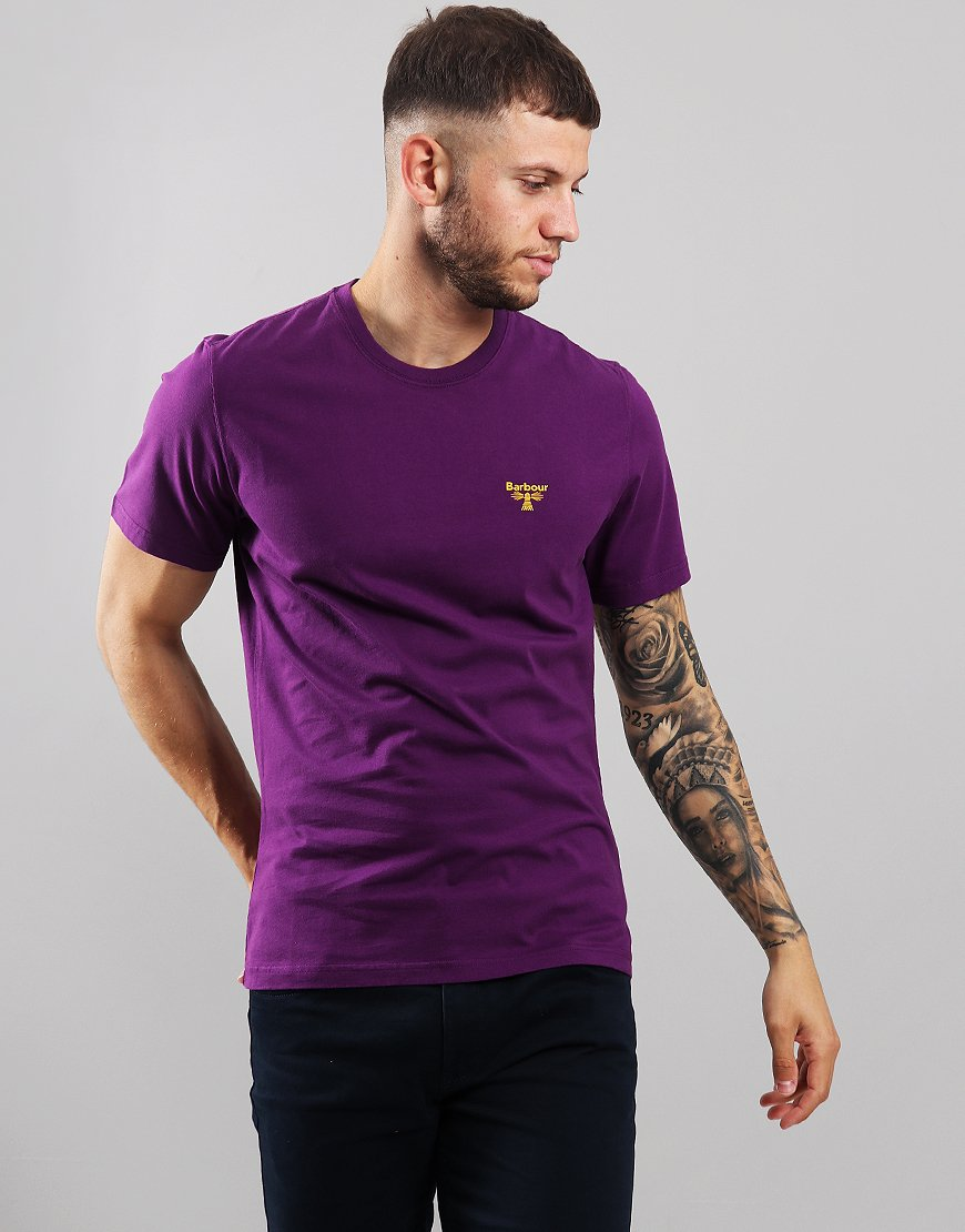 Barbour Beacon Logo T-Shirt Plum