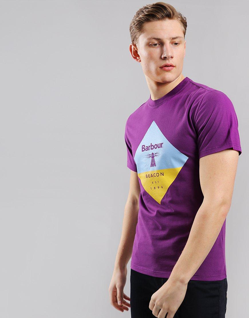 Barbour Beacon Diamond T-Shirt Plum