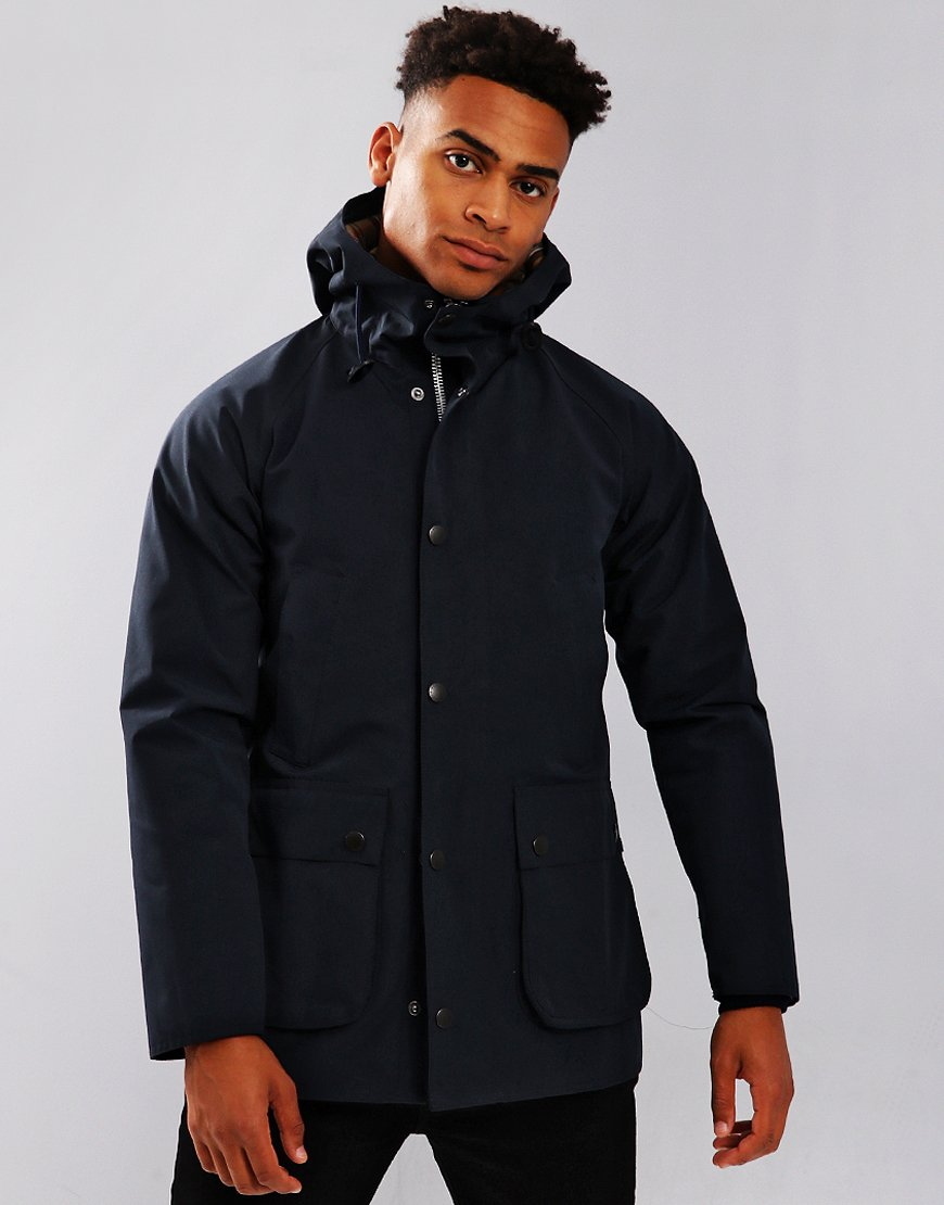 Barbour Bedale Casual Hooded Jacket Navy