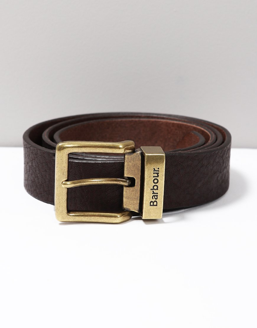 Barbour Blakely Belt Dark Brown