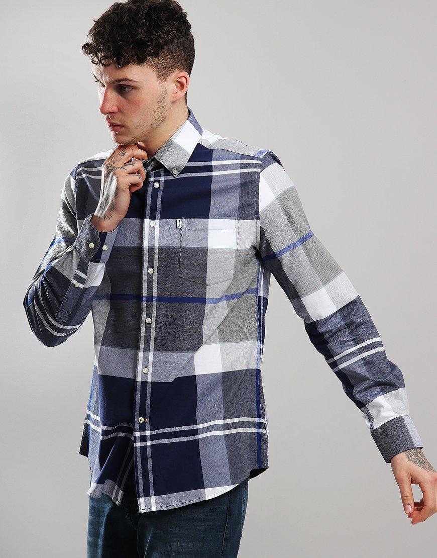 Barbour Brothwell Long Sleeve Shirt Grey Marl