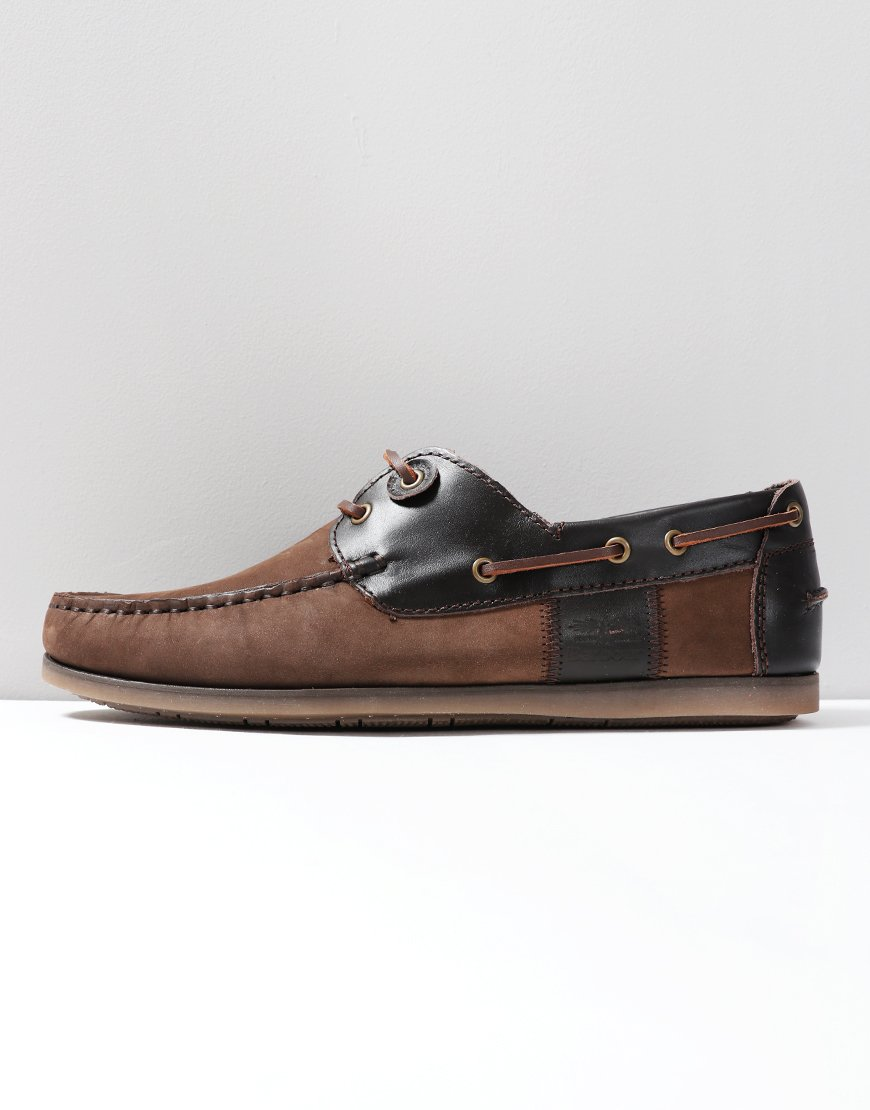 Barbour Capstan Boat Shoe Dark Brown