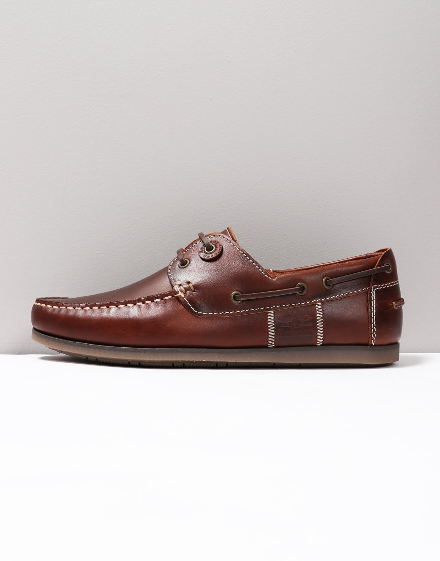 Barbour Capstan Boat Shoe Mahogany