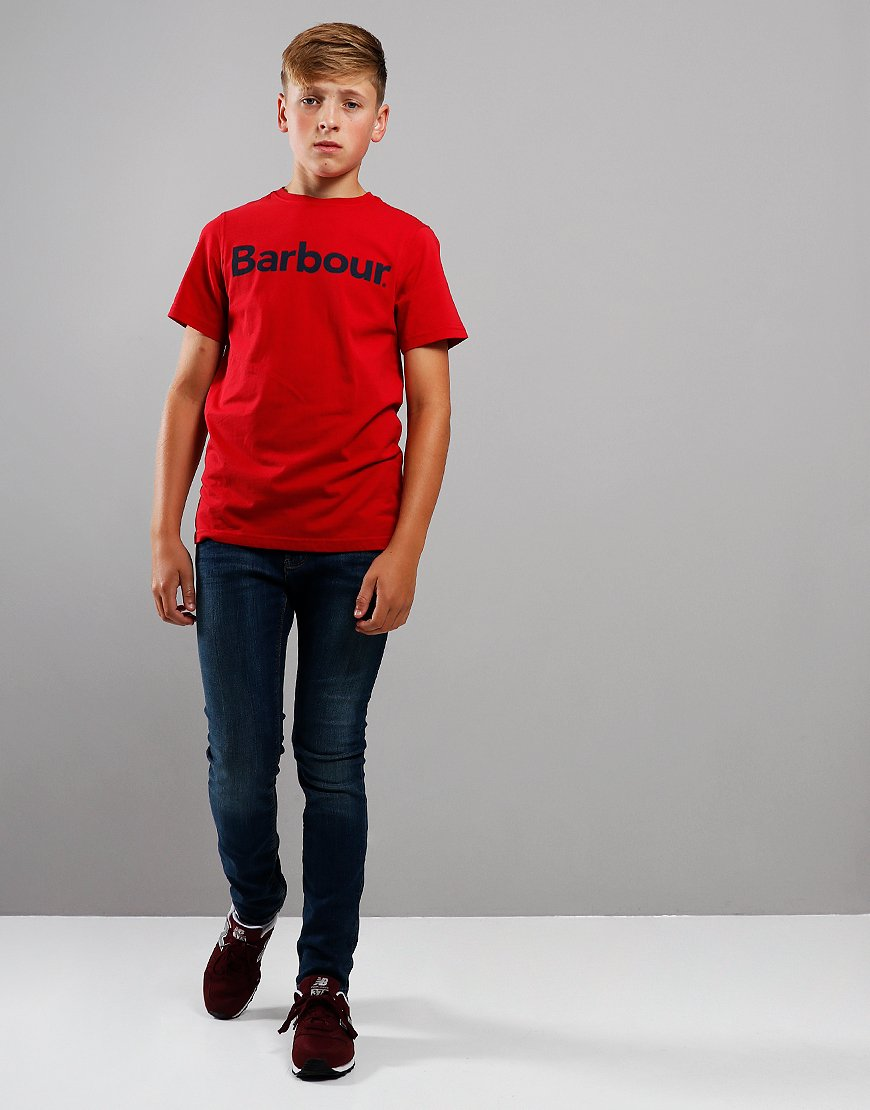 Barbour Children Logo T-Shirt Red