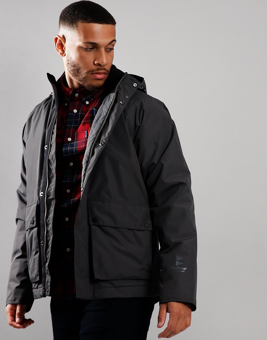 Barbour Cirrus Waterproof Jacket Charcoal