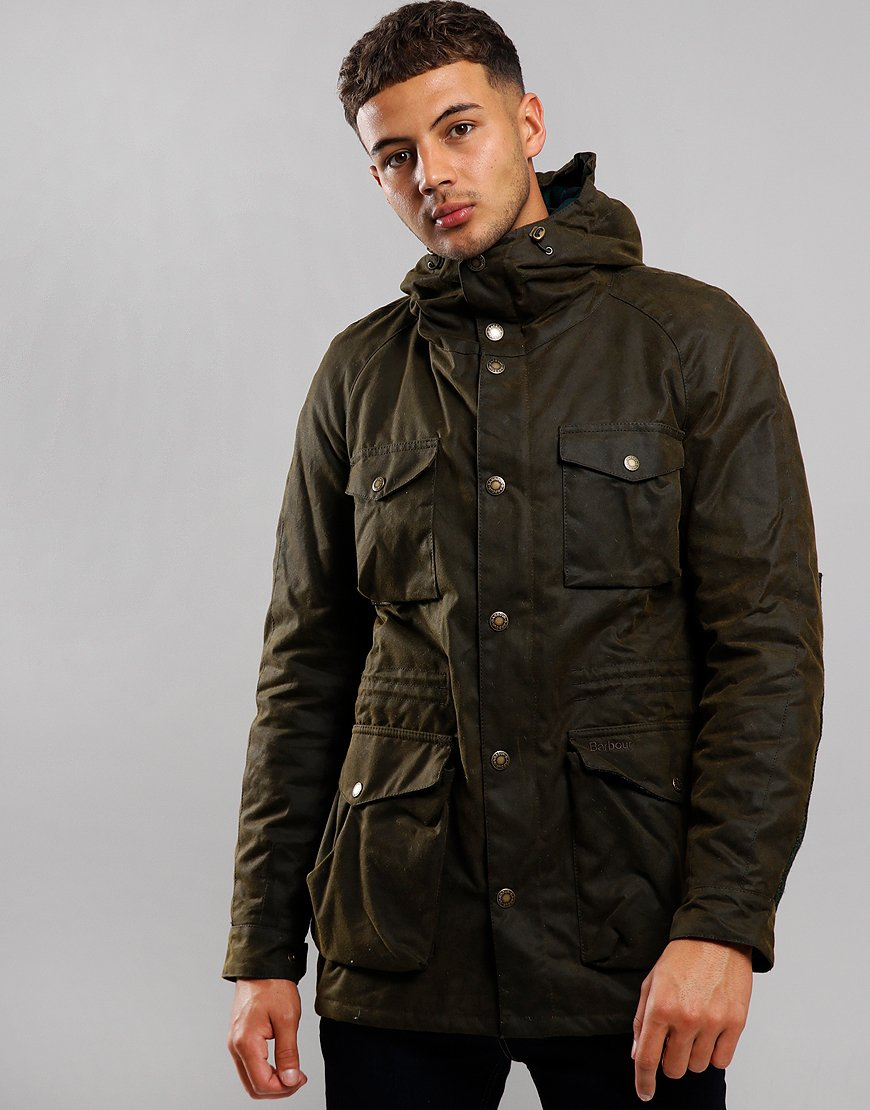 Barbour Coll Wax Jacket Olive