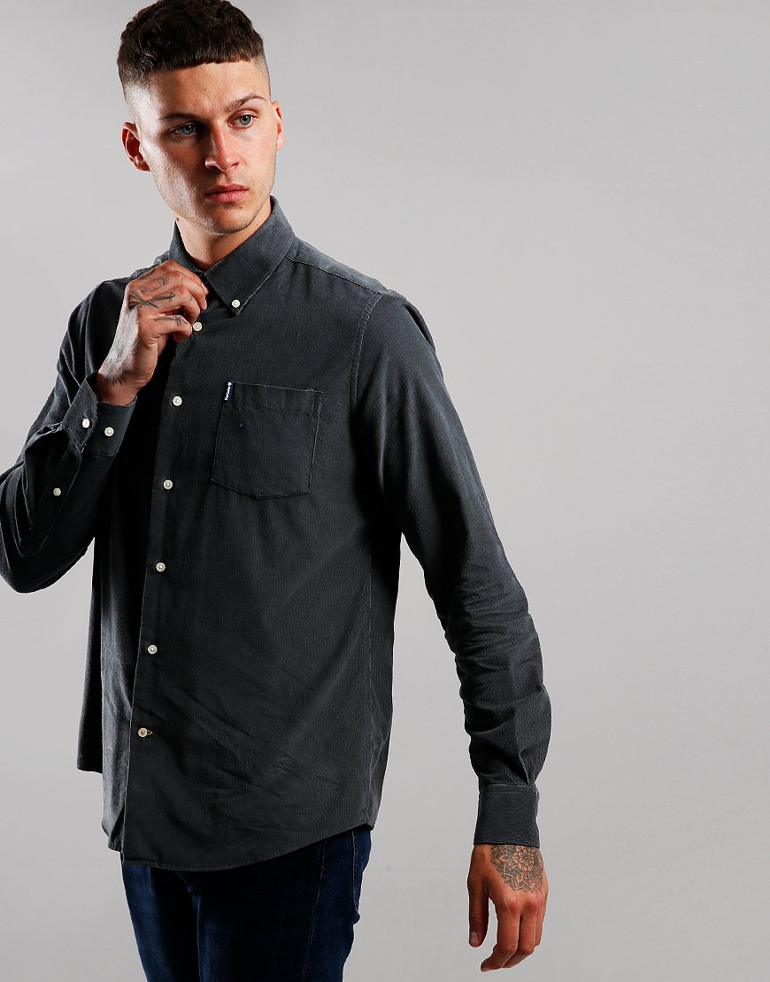 Barbour Cord 1 Long Sleeve Tailored Shirt Grey