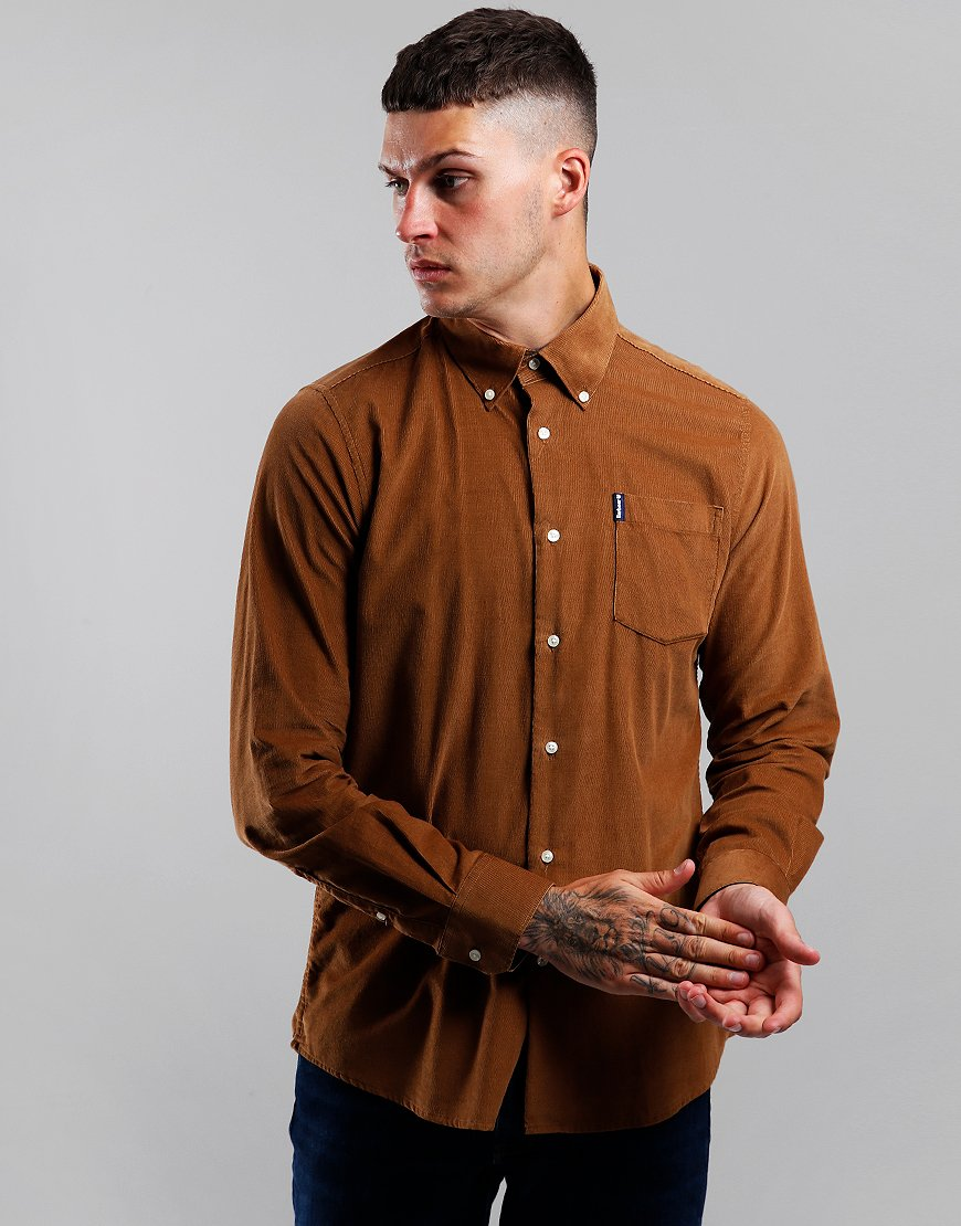Barbour Cord 1 Long Sleeve Tailored Shirt Sandstone
