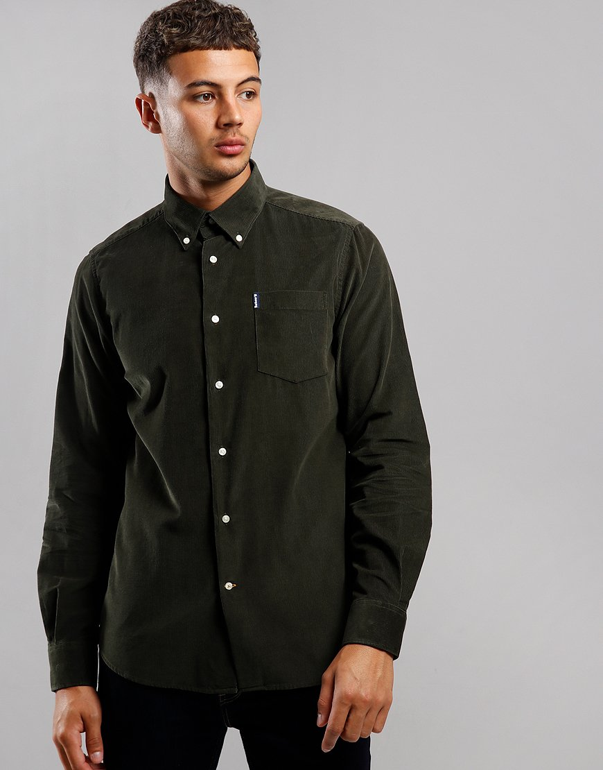 Barbour Cord 1 Long Sleeve Tailored Shirt Forest