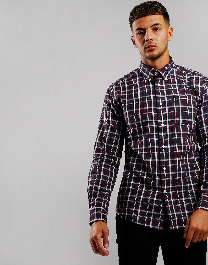 Barbour Country Check 2 Long Sleeve Shirt Red