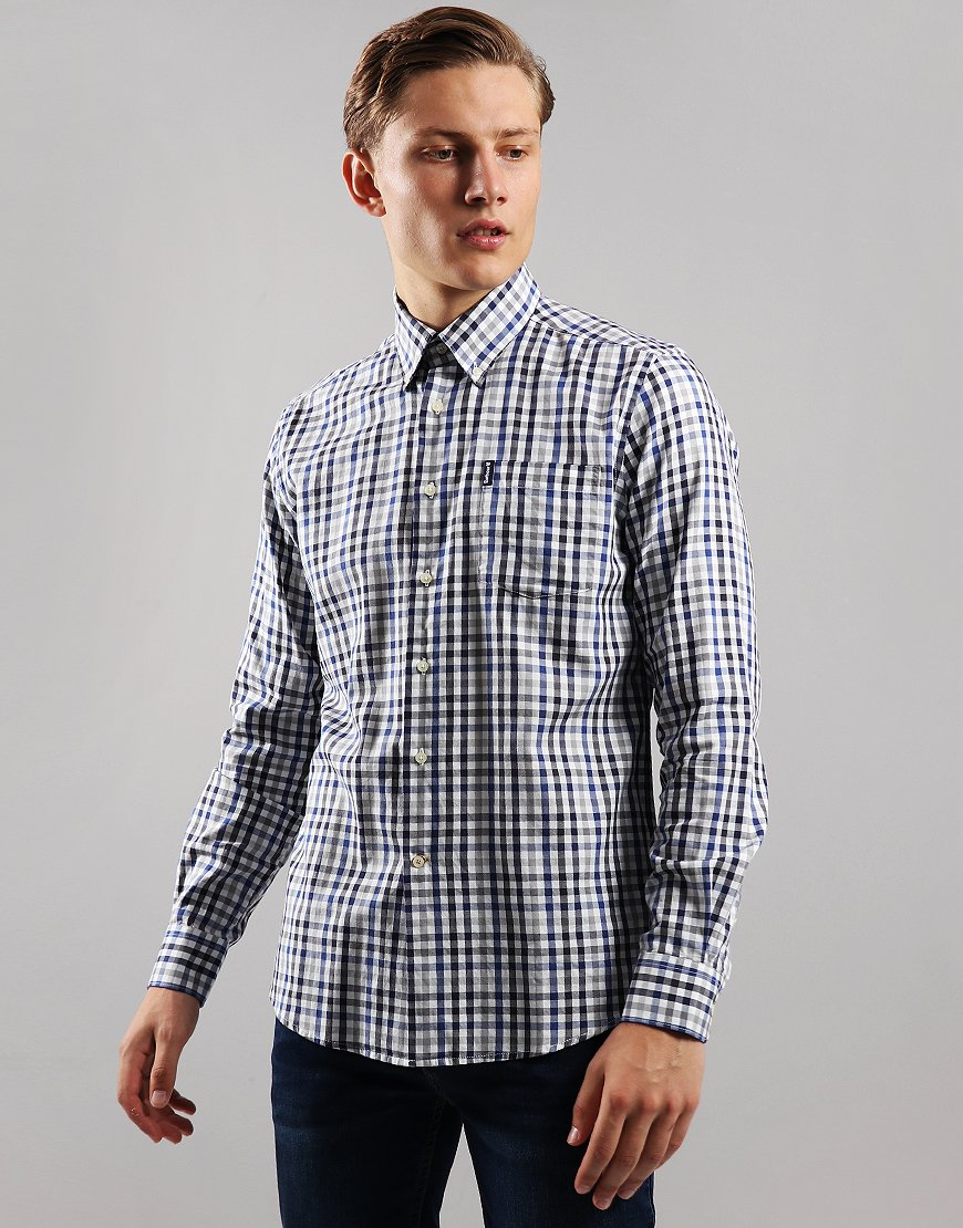 Barbour Country Check 6 Long Sleeve Shirt Grey