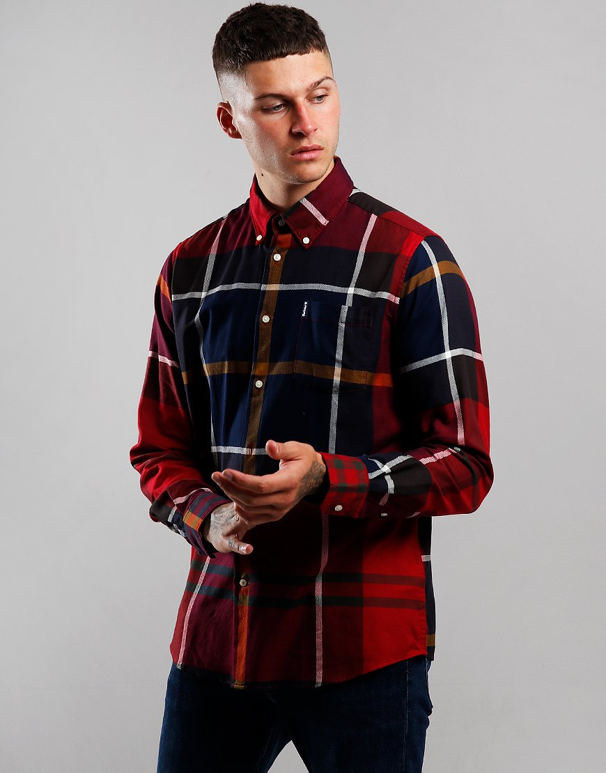 Barbour Dunoon Long Sleeve Shirt Red